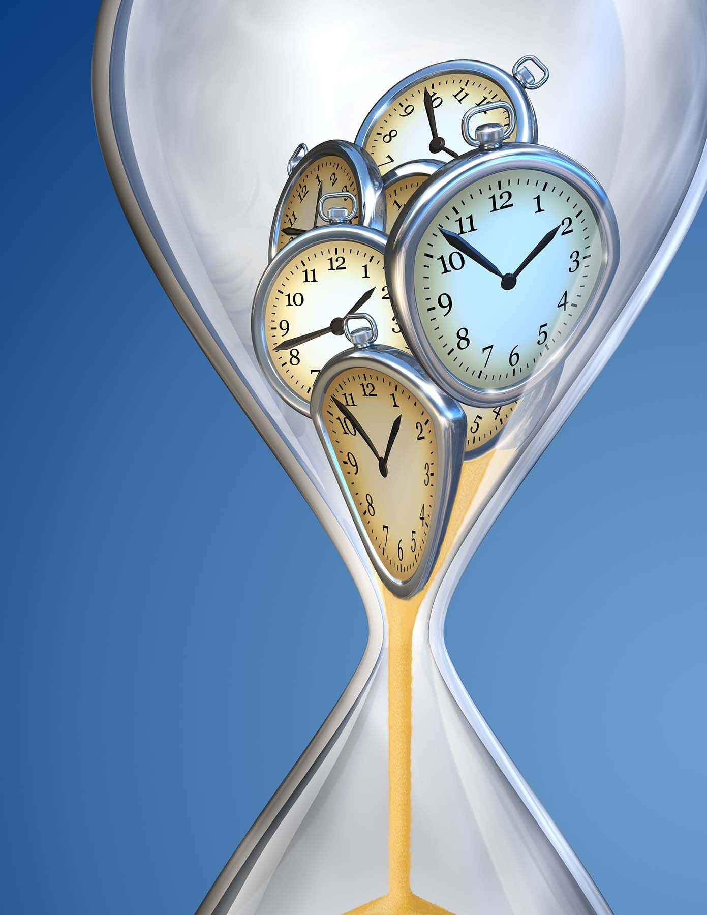 15273619 - hourglass time clock with sand